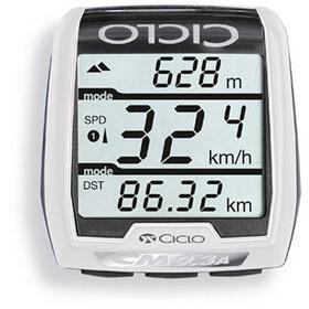 Ciclosport CM 9.3A Licznik rowerowy z wysokościomierzem, white